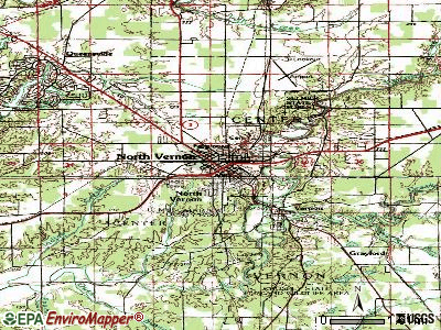North Vernon topographic map