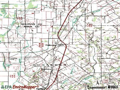 Oaktown topographic map