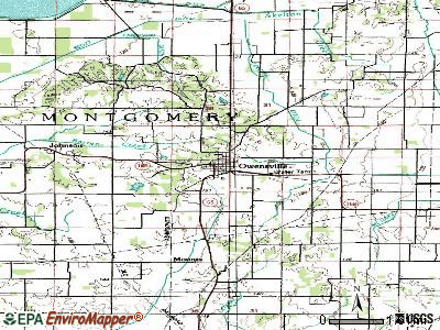 Owensville topographic map