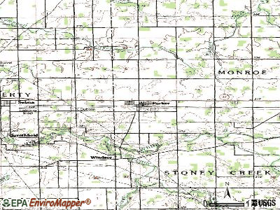 Parker City topographic map