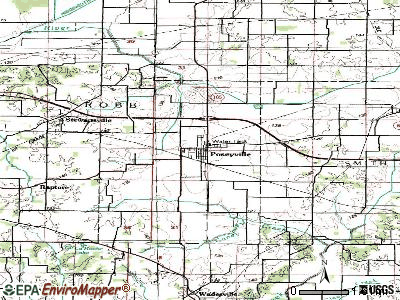 Poseyville topographic map