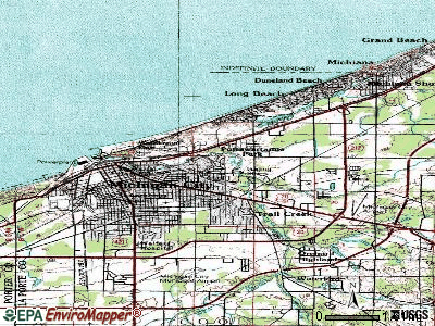 Pottawattamie Park topographic map