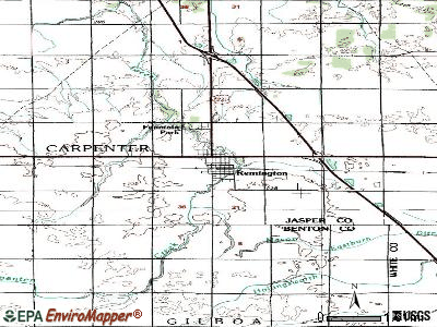 Remington topographic map