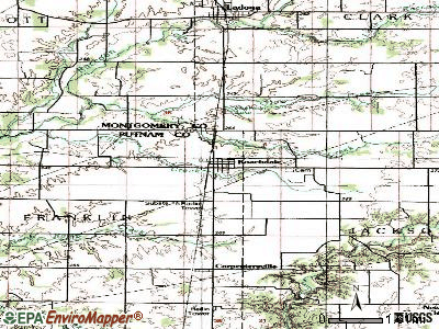Roachdale topographic map