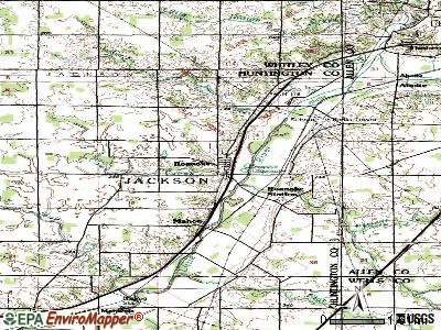 Roanoke topographic map