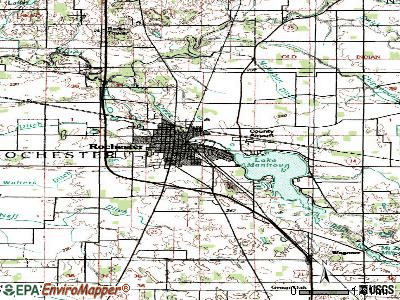 Rochester topographic map