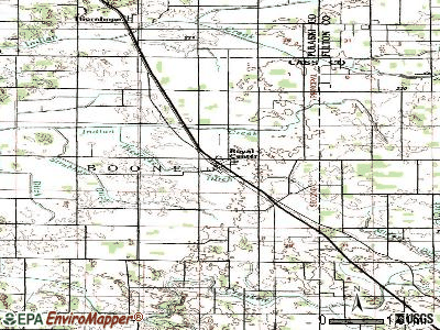 Royal Center topographic map