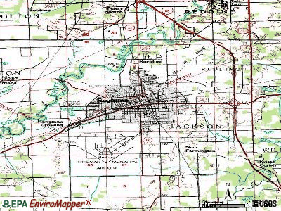 Seymour topographic map
