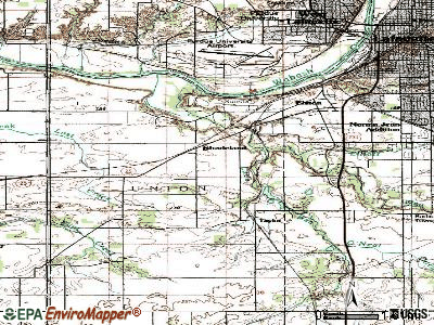 Shadeland topographic map