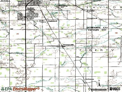 Sharpsville topographic map