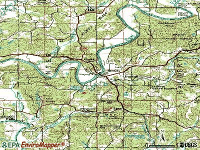 Shoals topographic map