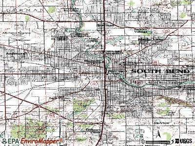 South Bend topographic map