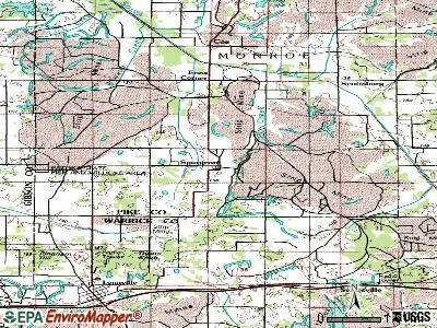 Spurgeon topographic map