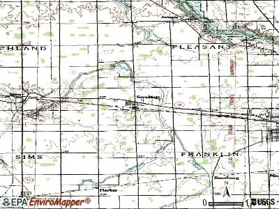 Sweetser topographic map