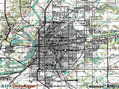 Terre Haute topographic map