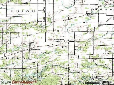 Trafalgar topographic map