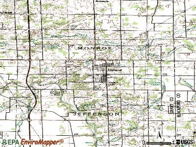 Upland topographic map