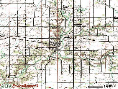 Veedersburg topographic map