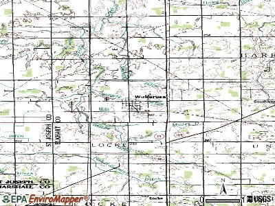 Wakarusa topographic map