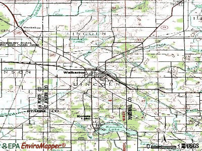 Walkerton topographic map