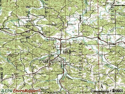 West Baden Springs topographic map