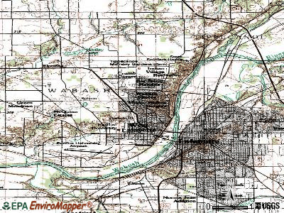 West Lafayette topographic map