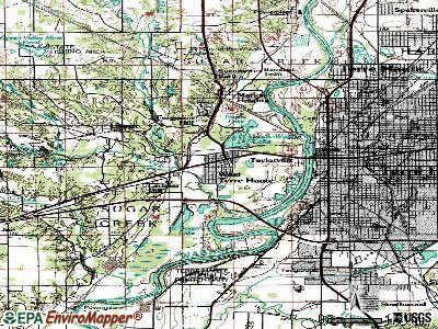 West Terre Haute topographic map