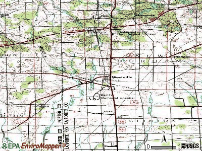 Westville topographic map