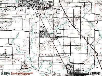 Whiteland topographic map