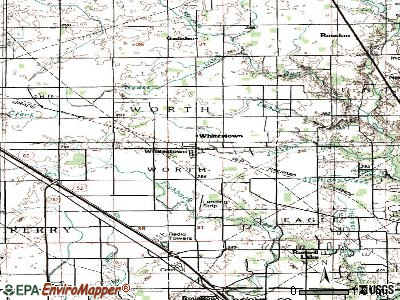 Whitestown topographic map