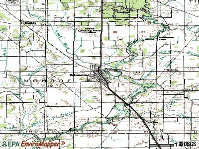 Winamac topographic map