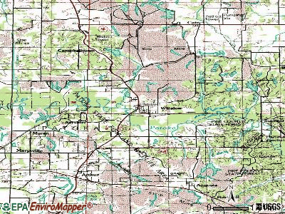 Winslow topographic map