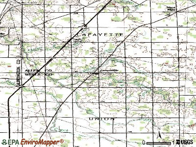 Zanesville topographic map