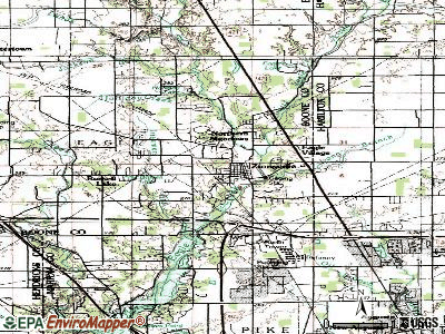 Zionsville topographic map