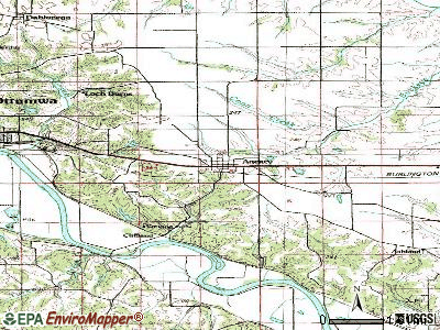 Agency topographic map