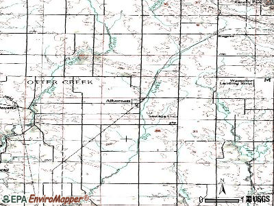 Alburnett topographic map