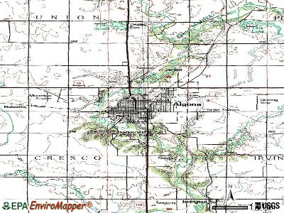 Algona topographic map