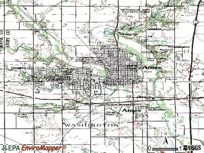 Ames topographic map