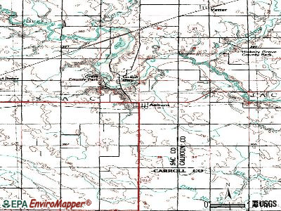 Auburn topographic map