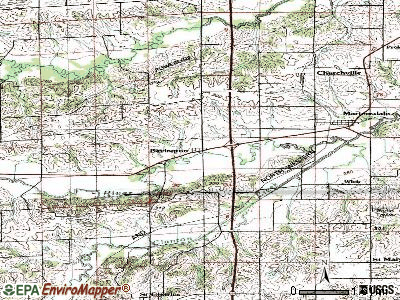 Bevington topographic map