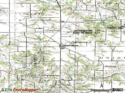 Birmingham topographic map