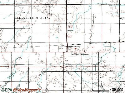 Blairsburg topographic map