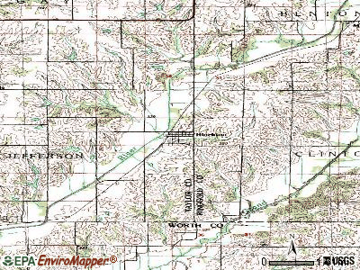Blockton topographic map