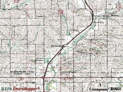 Brayton topographic map