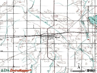 Britt topographic map