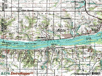 Buffalo topographic map