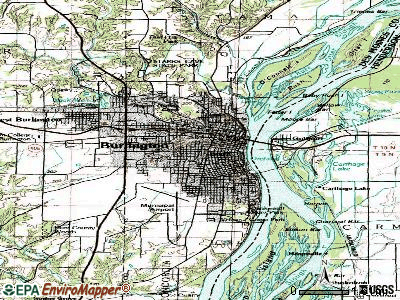 Burlington topographic map
