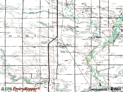 Burt topographic map