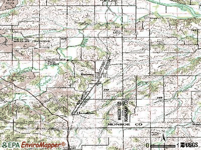 Bussey topographic map