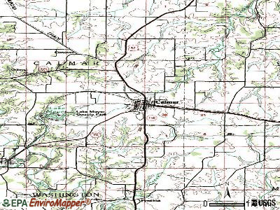 Calmar topographic map